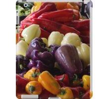 Colorful Peppers, Jersey City Farmers Market, Jersey City, New Jersey iPad Case/Skin