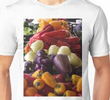 Colorful Peppers, Jersey City Farmers Market, Jersey City, New Jersey Unisex T-Shirt