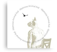 The Boy And His Wetnose Cat I Canvas Print