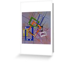Abstract composition 201 Greeting Card