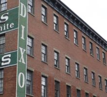 Historic Jersey City, Dixon Mills Factory, Converted to Residence, New Jersey Sticker