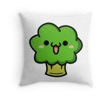 Cute broccoli Throw Pillow