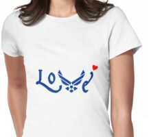 U.S. Airforce Love Womens Fitted T-Shirt