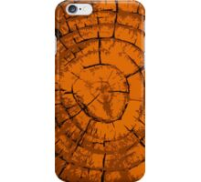 Wood Sepia Rings iPhone Case/Skin