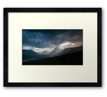 Sunset Over Mount Wilbur And Two Medicine Lake Framed Print