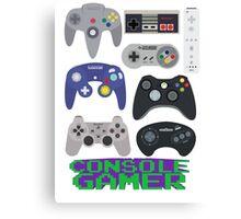 Console Gamer Canvas Print