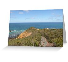 'Split Point' Lookouts, Airey's Inlet. Grt. Ocean Road. Victoria. Greeting Card
