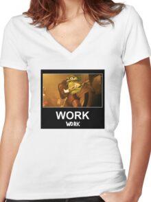 WORK 'Work' ft. Rihanna & WC3 Women's Fitted V-Neck T-Shirt