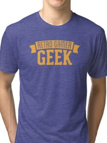 Retro gamer Geek Tri-blend T-Shirt