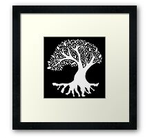 Tree of Peace - White Framed Print