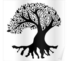 Tree of Peace - Black Poster