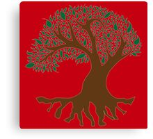 Tree of Peace - Color Canvas Print