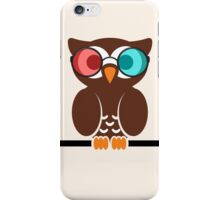 Owl 3D Glasses iPhone Case/Skin