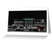 Chevy Muscle Cars Greeting Card
