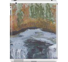 Water flowing over rock. iPad Case/Skin