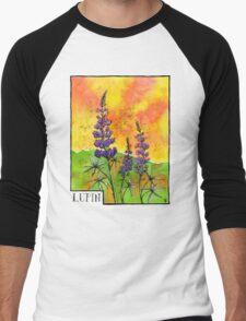 Lupin Flowers Men's Baseball ¾ T-Shirt