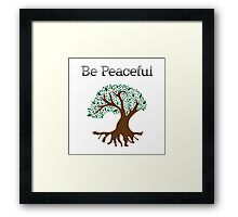 Be Peaceful Tree - Color Framed Print