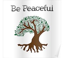 Be Peaceful Tree - Color Poster