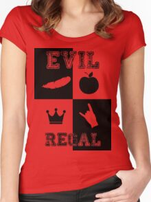 Evil Regal - Feather/Apple/Crown/Hand Women's Fitted Scoop T-Shirt