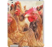 Wetnose Chickens Colour iPad Case/Skin