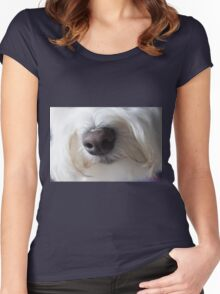 Sweet Little Sniffer Women's Fitted Scoop T-Shirt
