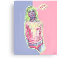 bicycle daydream pastel backdrop Canvas Print