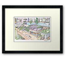 Vegetable Shop Framed Print