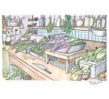 Vegetable Shop Photographic Print