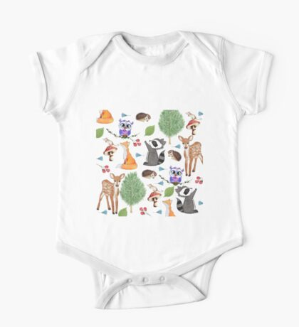 Home Decor and Apparel - Woodland Creatures One Piece - Short Sleeve