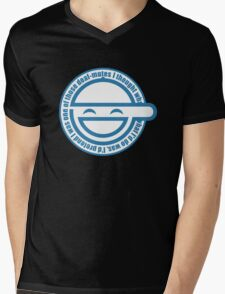 laugh man Mens V-Neck T-Shirt