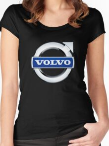 volvo vintage Women's Fitted Scoop T-Shirt