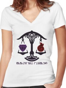The Immortal Flames Women's Fitted V-Neck T-Shirt