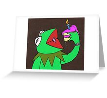 Kermit cake Greeting Card