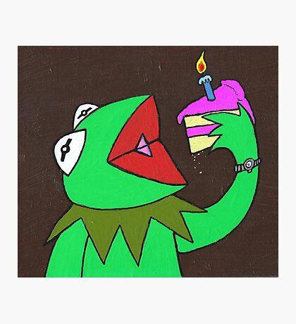 Kermit cake Photographic Print
