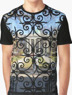 Pattern Over Door Graphic T-Shirt