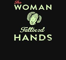 The woman tattooed hands Womens Fitted T-Shirt