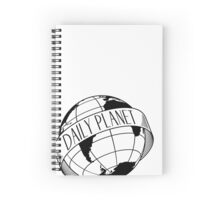 Daily Planet - Black Spiral Notebook