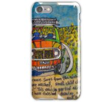 jeep by a field iPhone Case/Skin