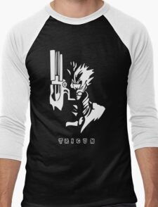 Trigun White Men's Baseball ¾ T-Shirt