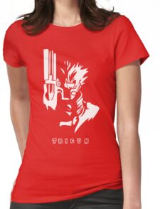 Trigun White Womens Fitted T-Shirt