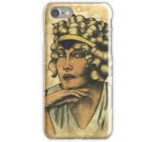 Woman With Headband iPhone Case/Skin