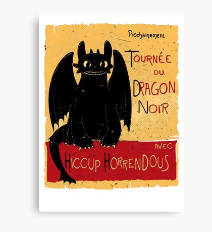 Dragon Noir Canvas Print