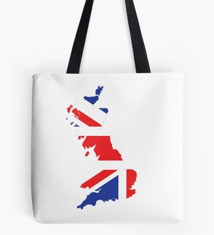 United Kingdom map Tote Bag