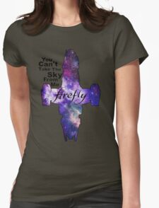 Serenity Firefly Galaxy and Quote Womens Fitted T-Shirt