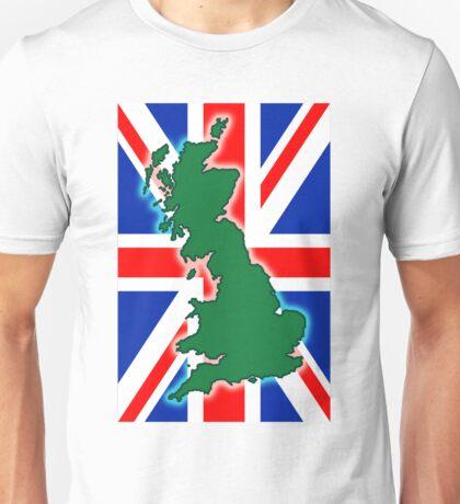 Union Jack, United Kingdom map Unisex T-Shirt