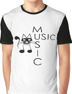 music cat Graphic T-Shirt