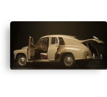 retro car  interior on a black background Canvas Print