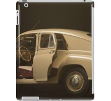 retro car  interior on a black background iPad Case/Skin