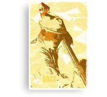 Jazz Contrabassist Poster Canvas Print