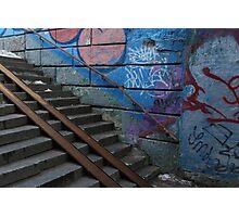 underground  stairs up Photographic Print